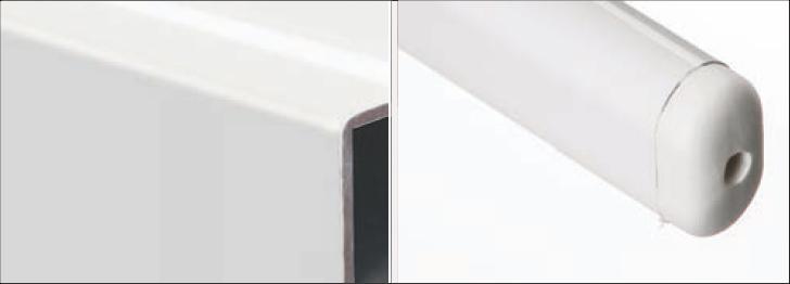 parasol aluminium biały